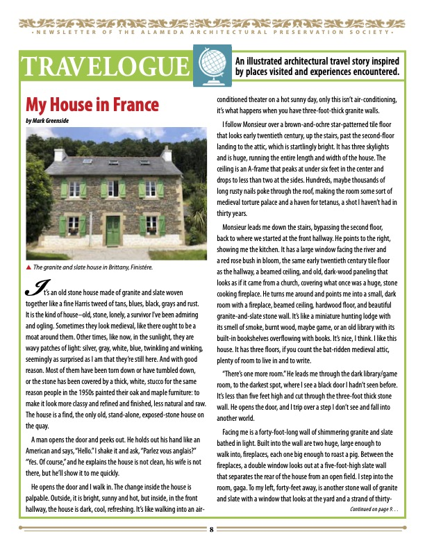 March Newsletter My House in France